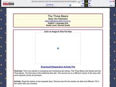 The Three Bears Lesson Plan