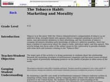 The Tobacco Habit: Marketing and Morality Lesson Plan