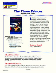 The Three Princes Lesson Plan