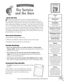 The Tortoise And The Hare Activities Project For 1st 2nd Grade
