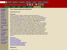 The Transcontinental Railroad Lesson Plan