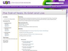 The Trail of Tears; Its Grief and Loss Lesson Plan
