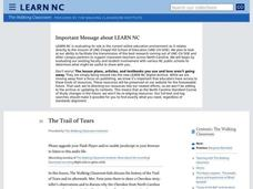The Trail of Tears Lesson Plan