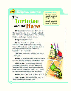 The Tortoise and the Hare Worksheet