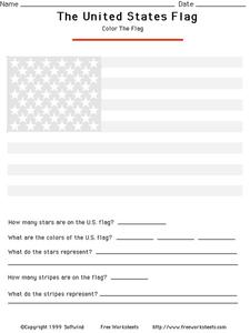 The United States Flag Worksheet