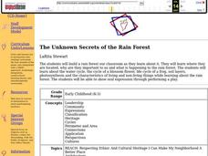 The Unknown Secrets of the Rain Forest Lesson Plan