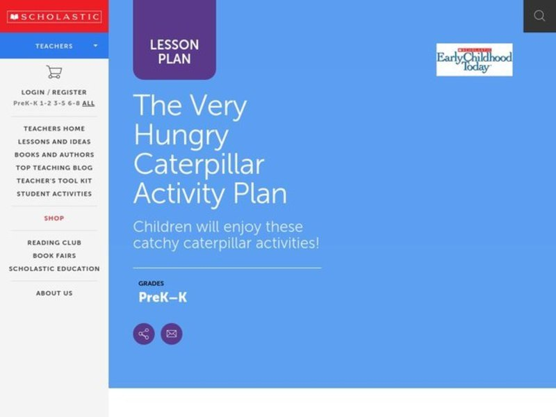 The Very Hungry Caterpillar Lesson Plan