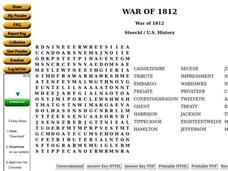 The War of 1812 Worksheet