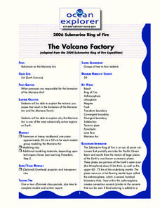 The Volcano Factory Lesson Plan