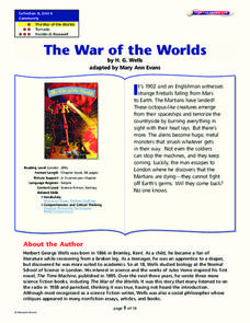 Orson Welles' War of the Worlds Lesson Plans & Worksheets