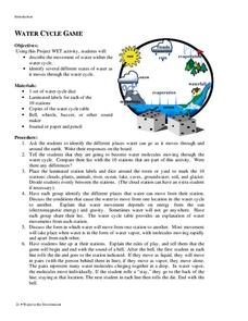The Water Cycle Game Activities & Project