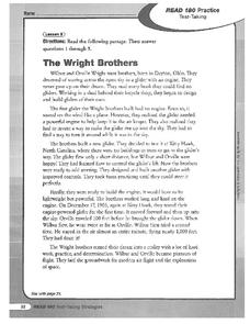 The Wright Brothers Worksheet