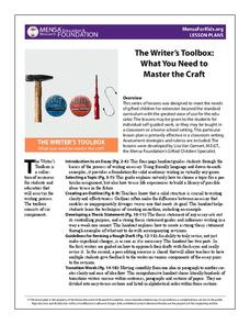The Writer's Toolbox: What You Need to Master the Craft Handouts & Reference