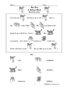 The Zoo Worksheet