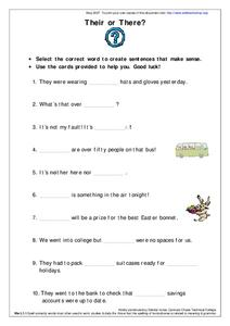 Their or There Worksheet