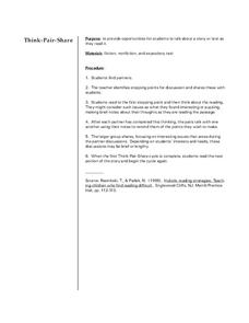Think-Pair-Share Lesson Plan