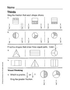 Thirds Worksheet