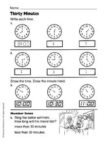 Thirty Minutes Worksheet