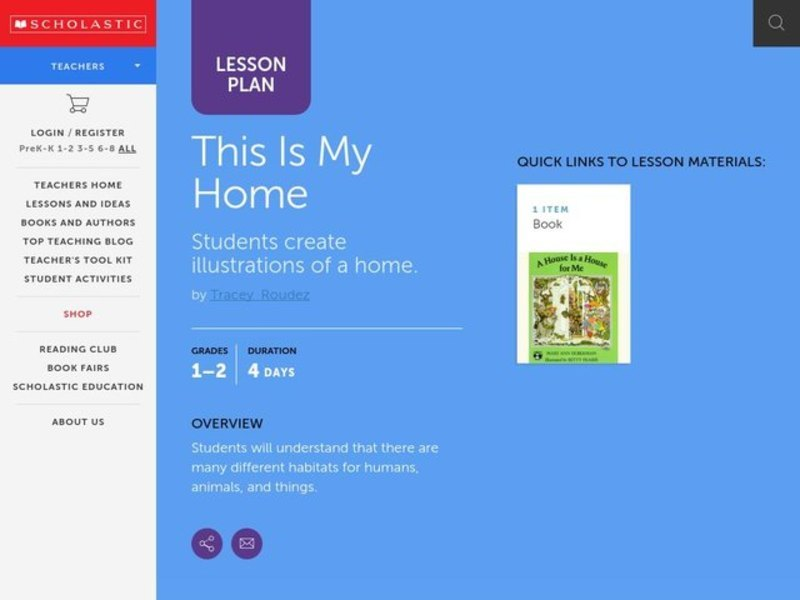This Is My Home Lesson Plan