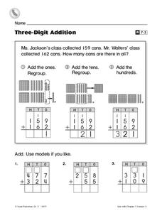 Three-Digit Addition Worksheet