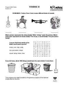 Timbre II Worksheet