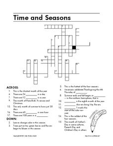 Time and Seasons Worksheet