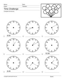 Time Challenge: Mixed Times 5 Worksheet