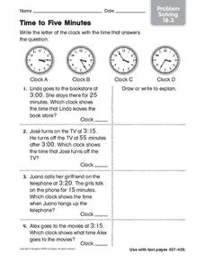 Time to Five Minutes: Problem Solving Worksheet