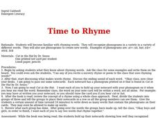 Time to Rhyme Lesson Plan