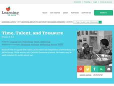 Time, Talent, and Treasure Lesson Plan