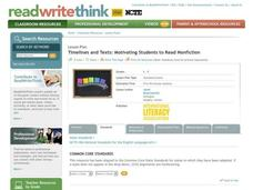 Timelines and Texts: Motivating Students to Read Nonfiction Lesson Plan