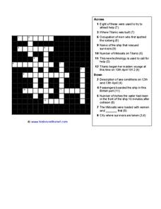 Titanic Crossword Worksheet