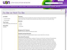 To Be or Not To Be Lesson Plan