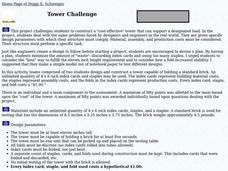 Tower Challenge Lesson Plan