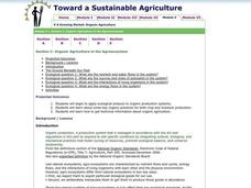 Toward a Sustainable Agriculture Lesson Plan