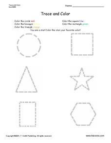 Trace and Color Worksheet