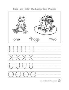 Trace and Color Pre-handwriting Practice Lesson Plan