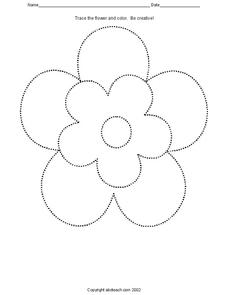 Trace the Flower Worksheet