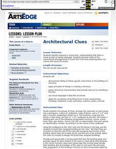 Architectural Clues Worksheet
