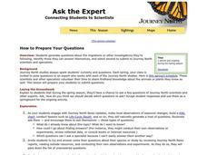 Ask the Expert Lesson Plan