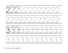 Tracing Numbers Worksheet