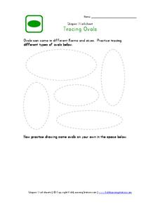 Tracing Ovals Worksheet