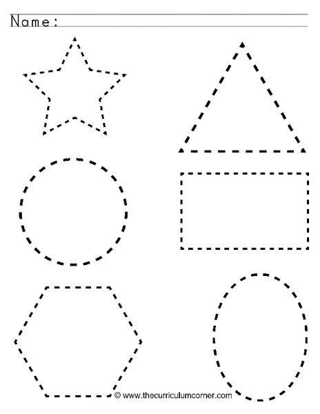 Tracing Shapes Worksheet For Pre K Lesson Planet