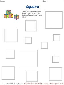 Tracing Squares Worksheet