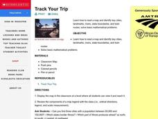 Track Your Trip Lesson Plan