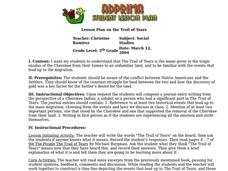 Trail of Tears Lesson Plan