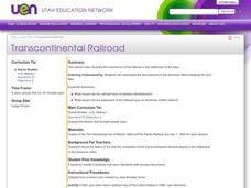 Transcontinental Railroad Lesson Plan