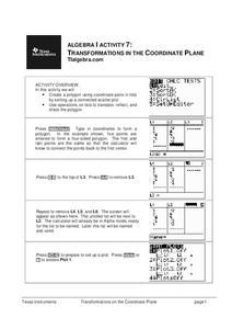 Transformations in the Coordinate Plane Lesson Plan