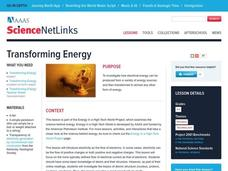 Transforming Energy Lesson Plan
