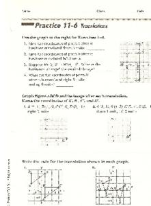 Translations Worksheet